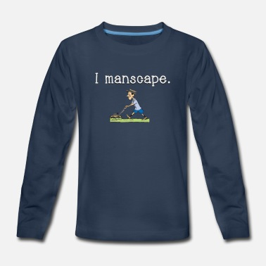 I Manscape Funny - Kids' Premium Long Sleeve T-Shirt