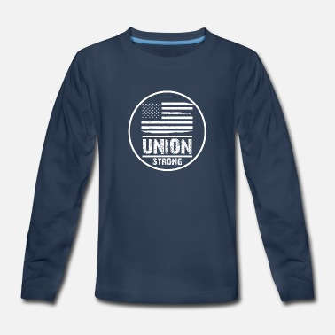 Union Strong Vintage USA Flag Proud Labor Day - Kids' Premium Longsleeve Shirt