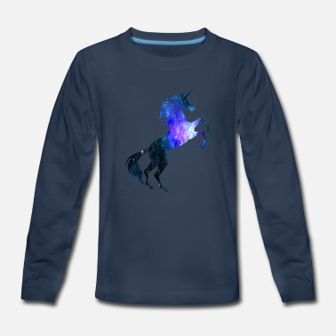 Rainbow Galaxy Unicorn Unicorn Galaxy Symbol T-Shirt Universe Magical - Kids' Premium Longsleeve Shirt