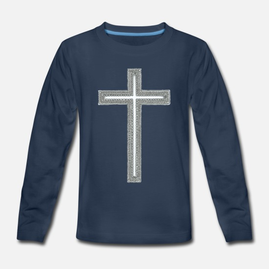 Seduce Long-Sleeve Shirts - Cross - Kids' Premium Longsleeve Shirt navy