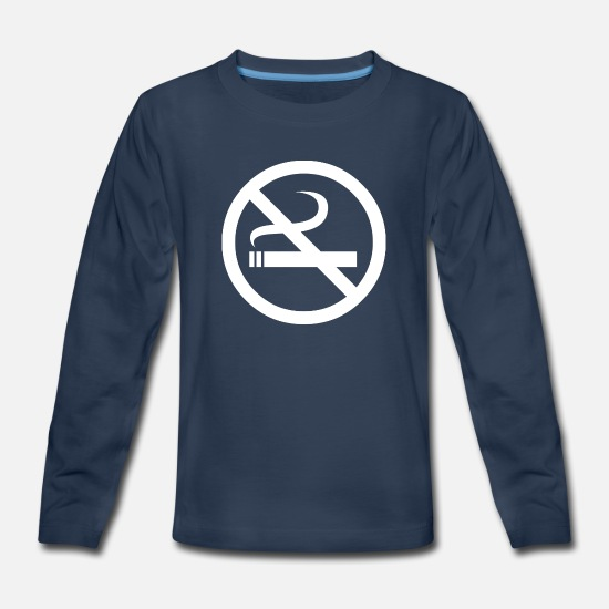 Smoking Long-Sleeve Shirts - NO SMOKING - Kids' Premium Longsleeve Shirt navy