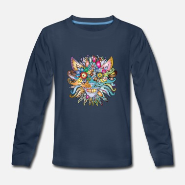 Flower Lion - Kids' Premium Long Sleeve T-Shirt