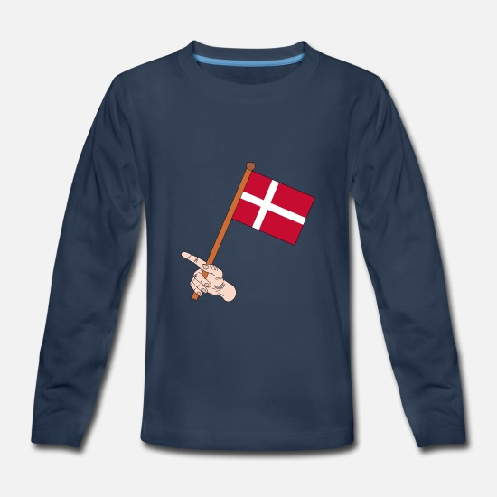 Love Long-Sleeve Shirts - flag - Kids' Premium Longsleeve Shirt navy