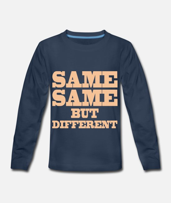 Palm Trees Long-Sleeved Shirts - Same Same But Differnet Thailand Holiday Quote - Kids' Premium Longsleeve Shirt navy