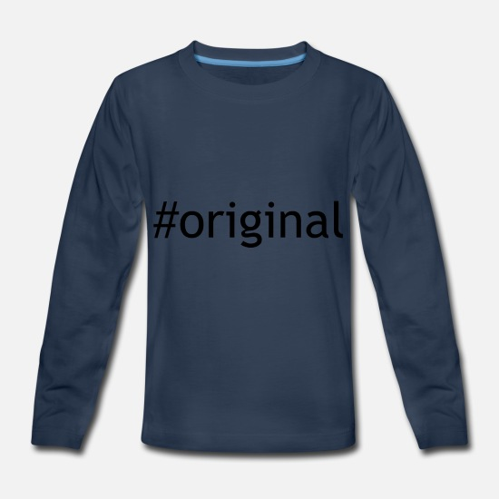 Pretty Long-Sleeve Shirts - original - Kids' Premium Longsleeve Shirt navy