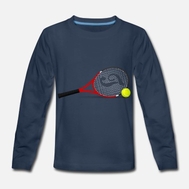 Tennis Racket Tennis rackets with ball - Kids' Premium Longsleeve Shirt