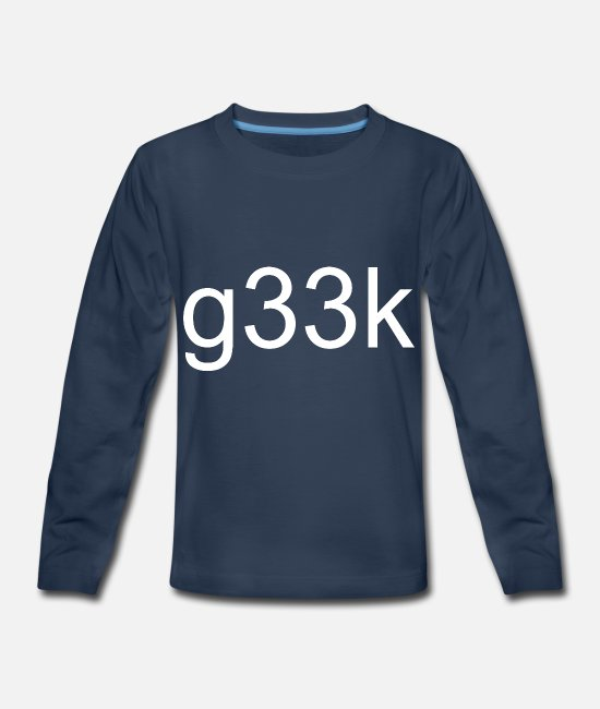 Noob Long-Sleeved Shirts - g33k geek Geek Nerd Birthday Gift Clothing - Kids' Premium Longsleeve Shirt navy