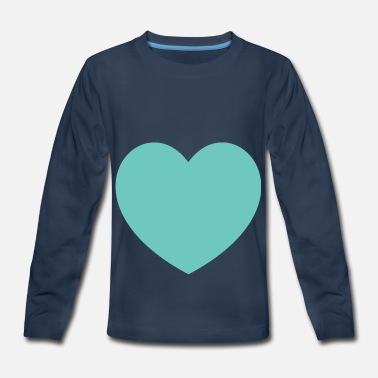 Blue Light Light Blue Heart - Kids' Premium Longsleeve Shirt
