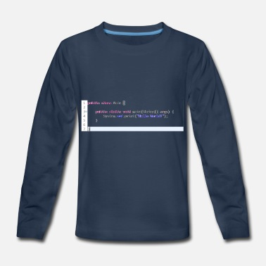 Java Java Hello World! Geschenkidee - Kids' Premium Longsleeve Shirt