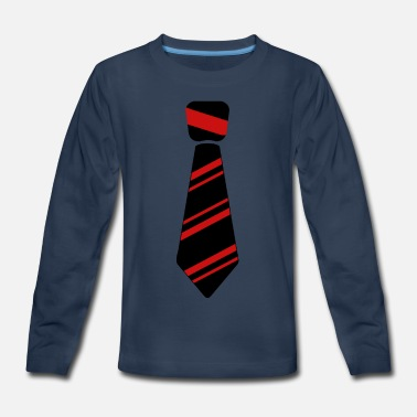 Neck Tie red - Kids' Premium Long Sleeve T-Shirt