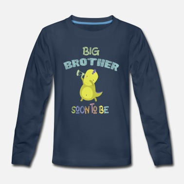 Siblings Big Brother Soon to be Pregnancy Announcement - Kids' Premium Long Sleeve T-Shirt