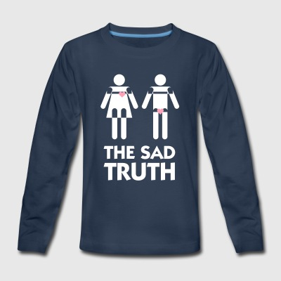 Men's Heart Beats For Sex,Women Beats For Love. - Kids' Premium Long Sleeve T-Shirt
