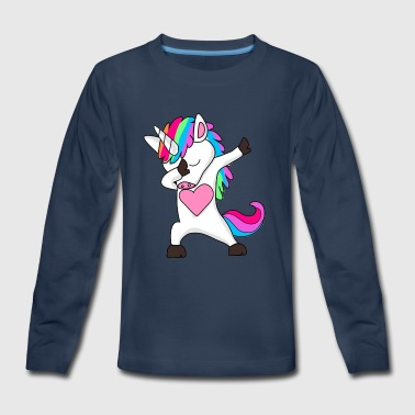 Cute Dabbing Unicorn - Dab Hip Hop Funny Magic - Kids' Premium Long Sleeve T-Shirt