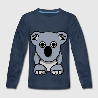 Koala Bear Australia Gift Present Animal Flag - Kids' Premium Long Sleeve T-Shirt