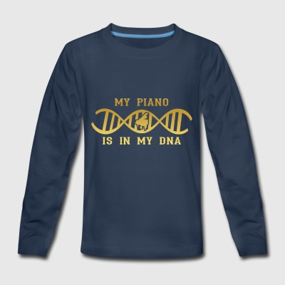 dns dna roots love calling piano klavier png - Kids' Premium Long Sleeve T-Shirt