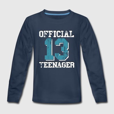 13th Birthday Gift Official Teenager for Boys - Kids' Premium Long Sleeve T-Shirt