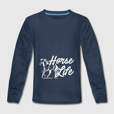 Horse Life horse riding my horse - Kids' Premium Long Sleeve T-Shirt