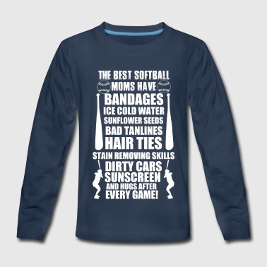 THE BEST SOFTBALL - Kids' Premium Long Sleeve T-Shirt