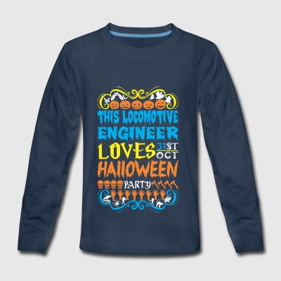 This Locomotive Engineer Loves 31st Oct Halloween - Kids' Premium Long Sleeve T-Shirt