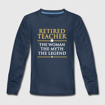 Retired Teacher T Shirt - Kids' Premium Long Sleeve T-Shirt