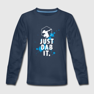 dab just dab it dabbing Football touchdown Panda - Kids' Premium Long Sleeve T-Shirt