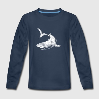 Shark Graphic - Kids' Premium Long Sleeve T-Shirt