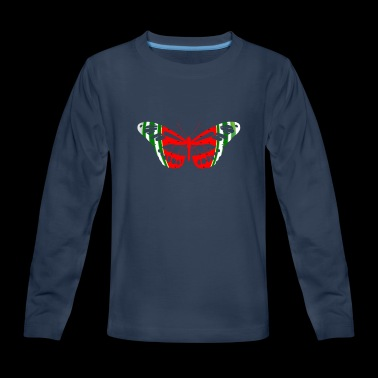 Butterfly Watermelon Summer Fruit Glow Party Funny - Kids' Premium Long Sleeve T-Shirt