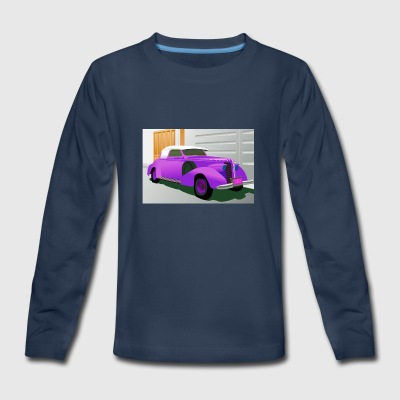 PURPLE BUICK 1938 SPECIAL CONVERTIBLE - Kids' Premium Long Sleeve T-Shirt