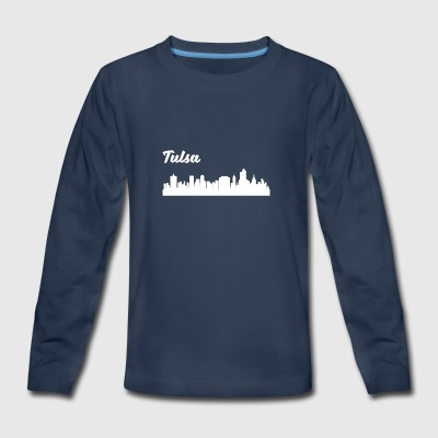 Tulsa OK Skyline - Kids' Premium Long Sleeve T-Shirt