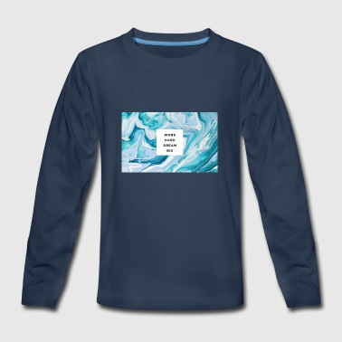 marble type - Kids' Premium Long Sleeve T-Shirt