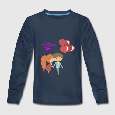 Valentine's Day Couple - Kids' Premium Long Sleeve T-Shirt