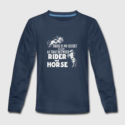 Secret between Horse and rider - Kids' Premium Long Sleeve T-Shirt