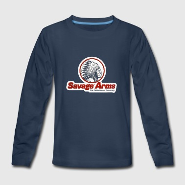 SAVAGE ARMS Classif Riffles Logo - Kids' Premium Long Sleeve T-Shirt
