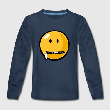SmileyWorld Zipped Up Smiley - Kids' Premium Long Sleeve T-Shirt