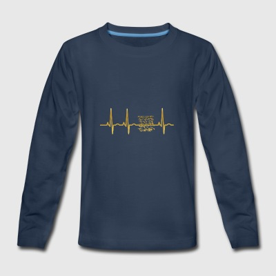 evolution ekg heartbeat weapon waffen cod war pain - Kids' Premium Long Sleeve T-Shirt