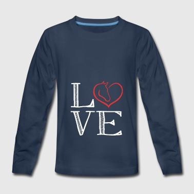 Horse Love loving the horse - Kids' Premium Long Sleeve T-Shirt