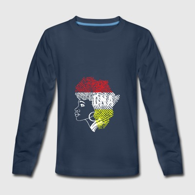 dna outline thumb print - Kids' Premium Long Sleeve T-Shirt