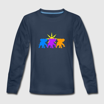 Three Happy elephants - Kids' Premium Long Sleeve T-Shirt