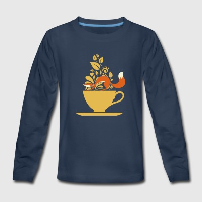fox tea - Kids' Premium Long Sleeve T-Shirt