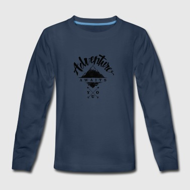 Adventure Awaits - Kids' Premium Long Sleeve T-Shirt