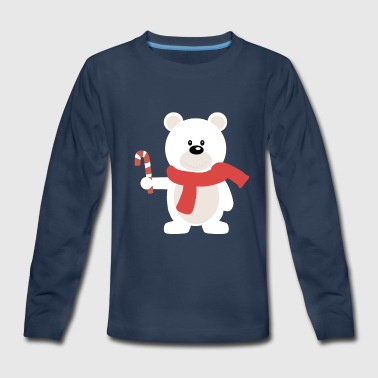christmas /winter polar bear - Kids' Premium Long Sleeve T-Shirt