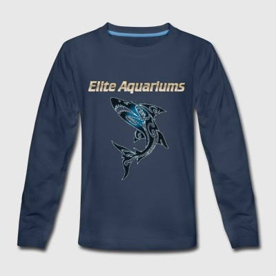 Maori Shark, with Elite Aquariums slogan - Kids' Premium Long Sleeve T-Shirt