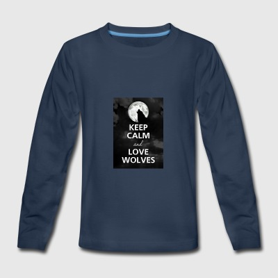 Keep Calm And Be In The Wolf Gang - Kids' Premium Long Sleeve T-Shirt