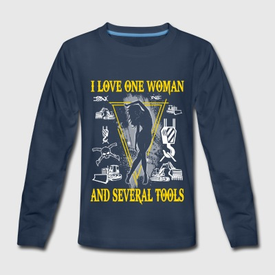 I Love One Woman Heavy Equipment Operator T-Shirts - Kids' Premium Long Sleeve T-Shirt