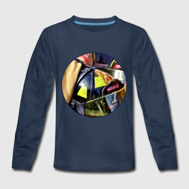 Two Fire Helmets And Fire - Kids' Premium Long Sleeve T-Shirt