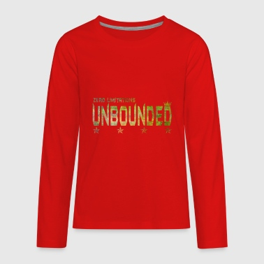 Unbound UNBOUNDED green grunge - Kids' Premium Long Sleeve T-Shirt