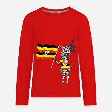 Ugandan An Ugandan Zebra - Kids' Premium Long Sleeve T-Shirt