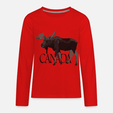 Canada Canada Moose Souvenir - Kids' Premium Long Sleeve T-Shirt