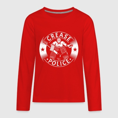 Hockey Goalie Crease Police (Hockey Goalie) - Kids' Premium Long Sleeve T-Shirt