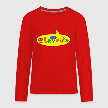 Cursing bad words speech balloon - Kids' Premium Long Sleeve T-Shirt